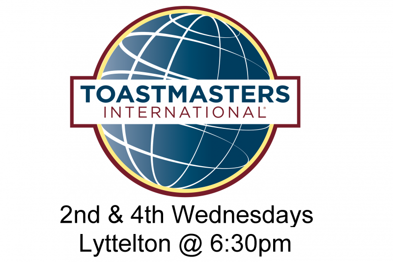 Bay Harbour Toastmasters Lyttelton 6:30pm 2nd & 4th Wednesdays