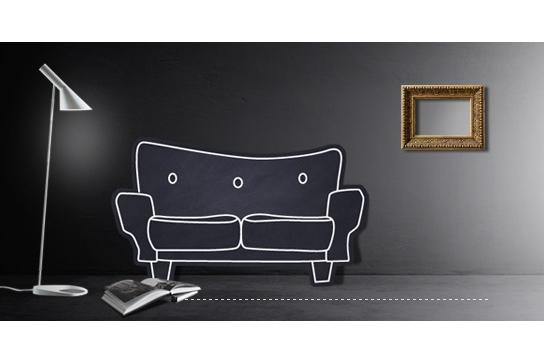 Image featuring sofa, lamp and picture